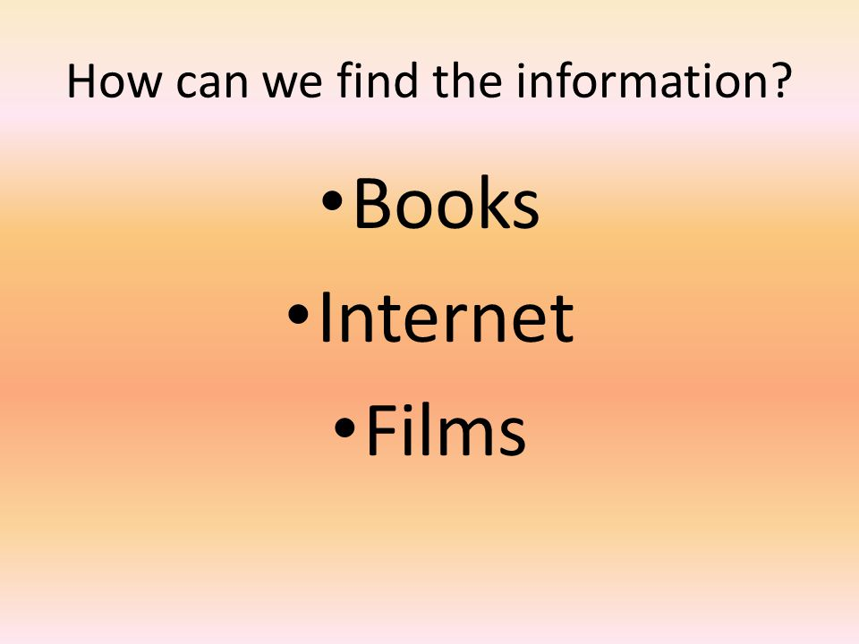 How can we find the information