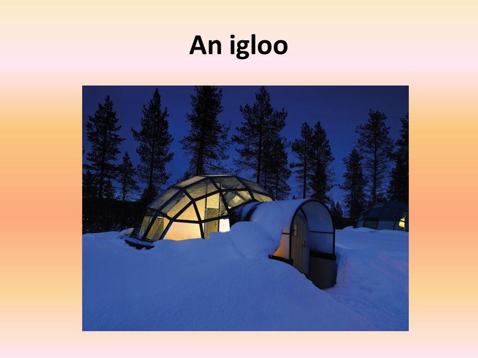 An igloo