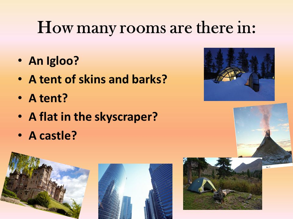 How many rooms are there in: