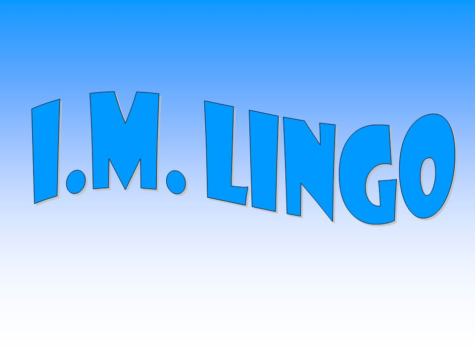 I.M. Lingo