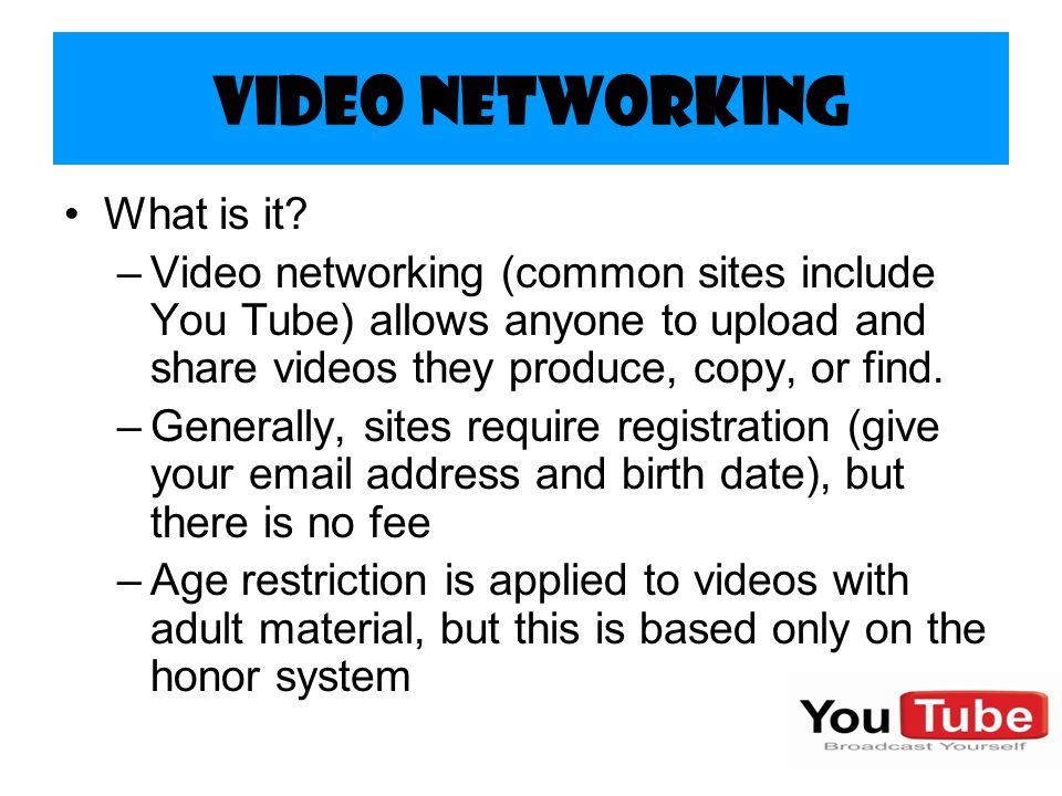 Video Networking What is it