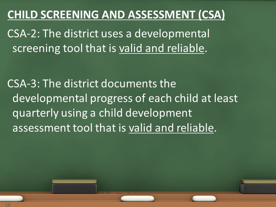 CHILD SCREENING AND ASSESSMENT (CSA)
