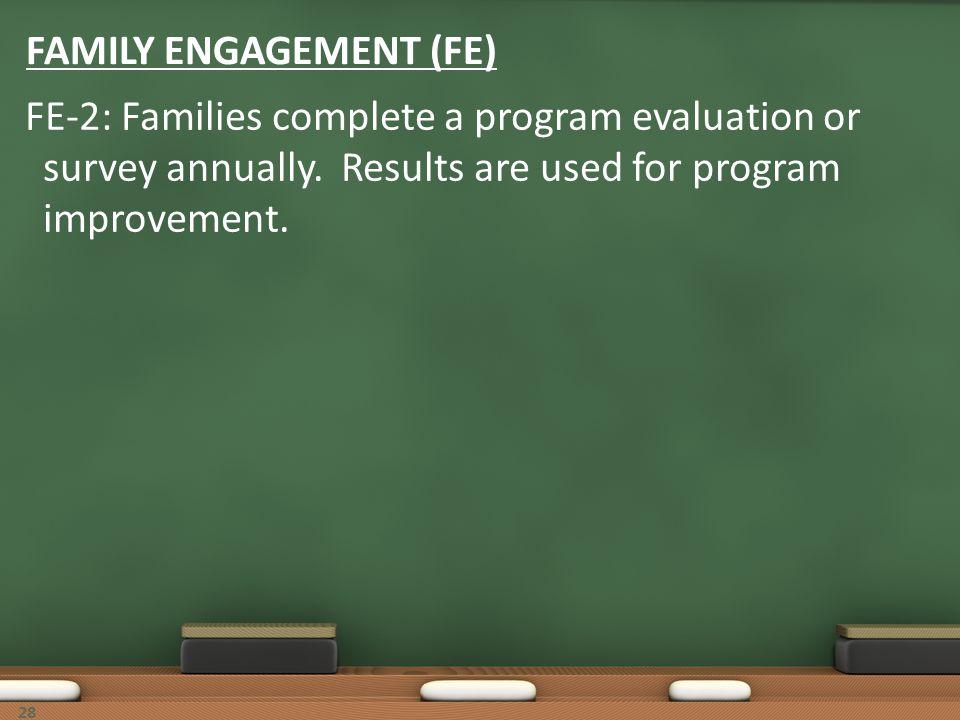 FAMILY ENGAGEMENT (FE)