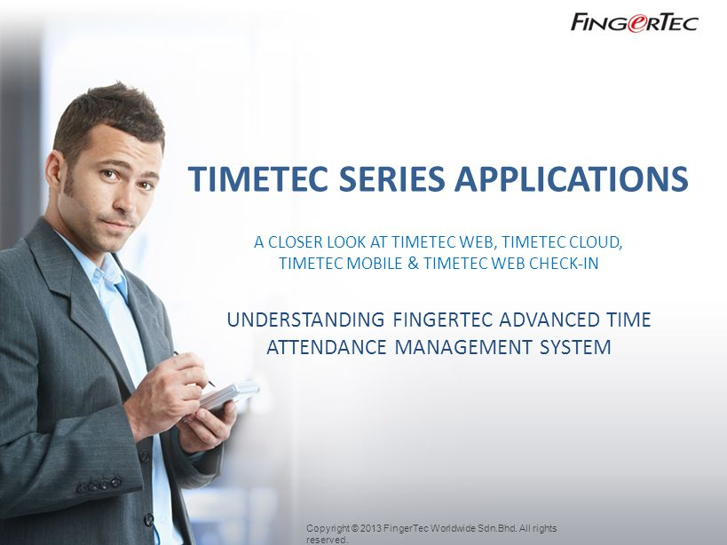 TIMETEC SERIES APPLICATIONS
