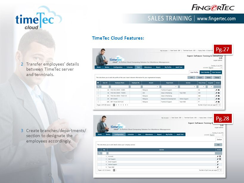 Pg.27 Pg.28 TimeTec Cloud Features: