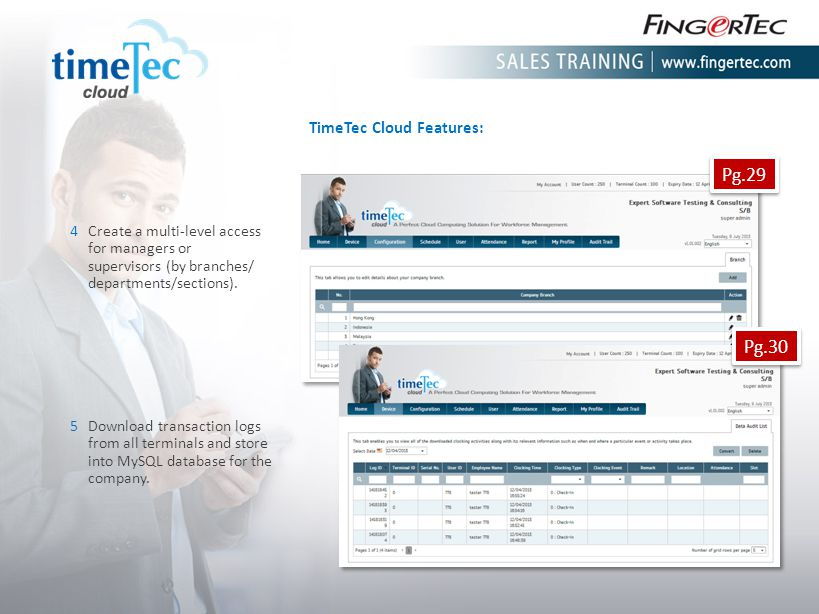 Pg.29 Pg.30 TimeTec Cloud Features: