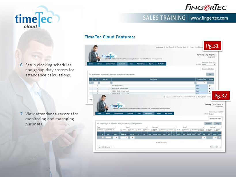 Pg.31 Pg.32 TimeTec Cloud Features: