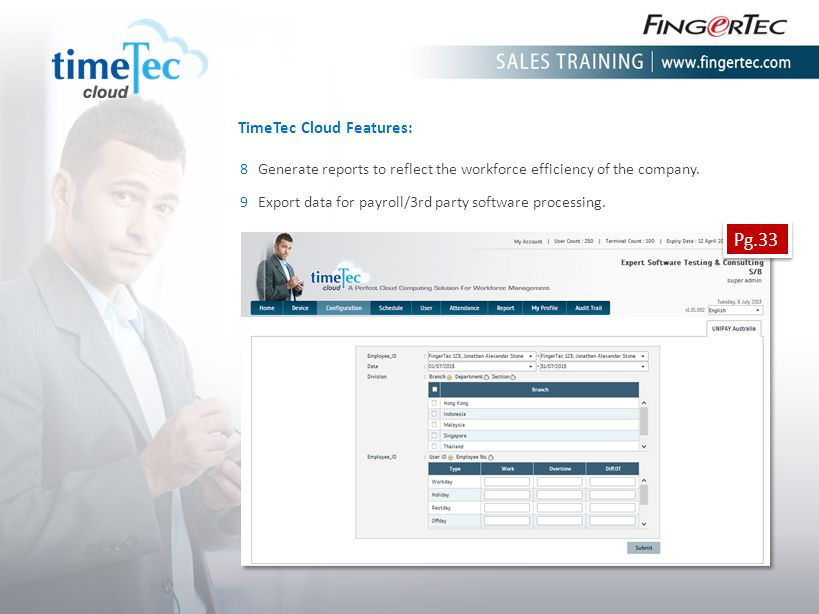 Pg.33 TimeTec Cloud Features: