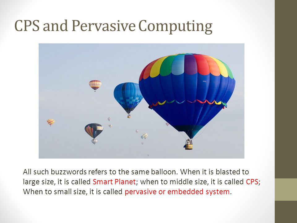 CPS and Pervasive Computing
