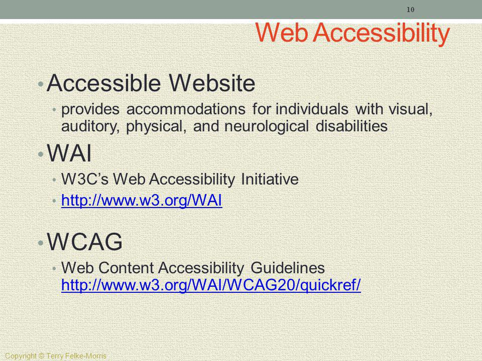 Web Accessibility Accessible Website WAI WCAG