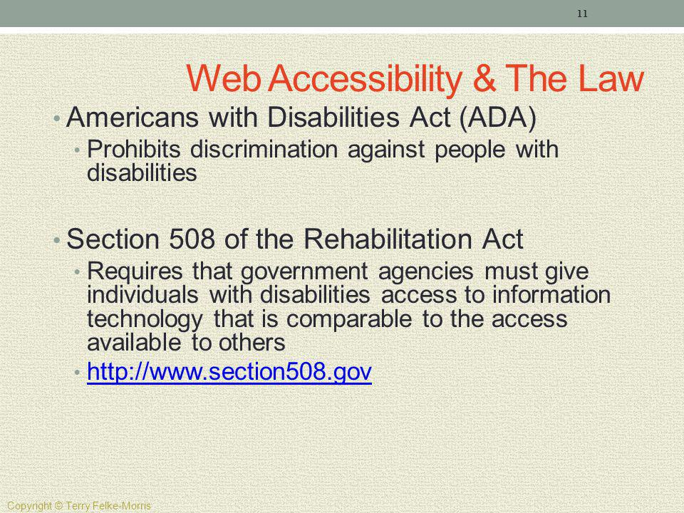 Web Accessibility & The Law