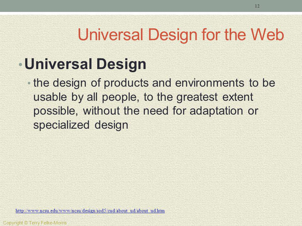 Universal Design for the Web