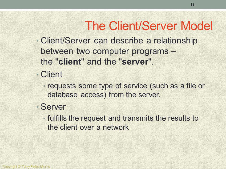The Client/Server Model