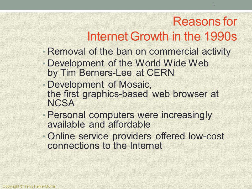 Reasons for Internet Growth in the 1990s