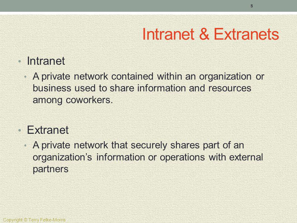 Intranet & Extranets Intranet Extranet