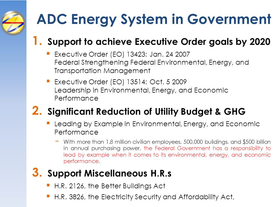 ADC Energy System in Government