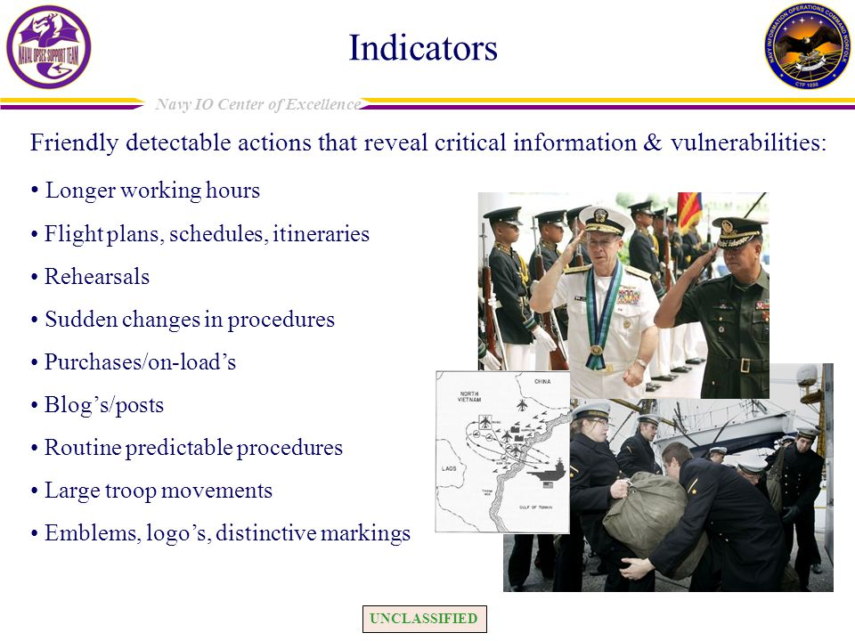 Indicators Friendly detectable actions that reveal critical information & vulnerabilities: Longer working hours.