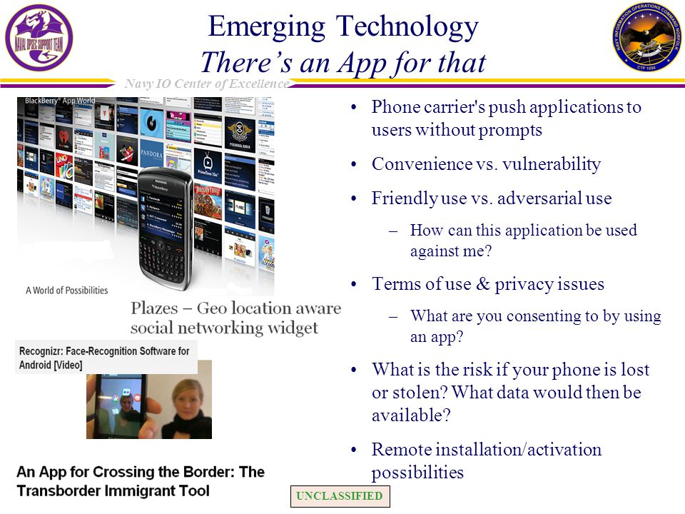 Emerging Technology There's an App for that