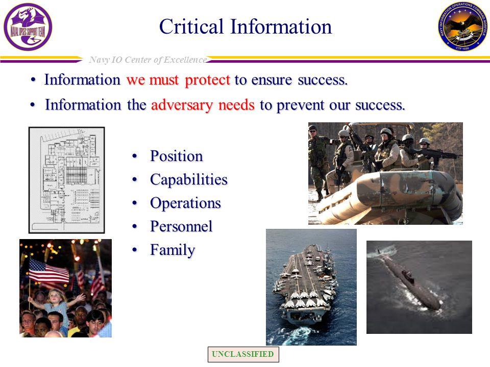 EEFI = question; Critical Info. (CI) = answer