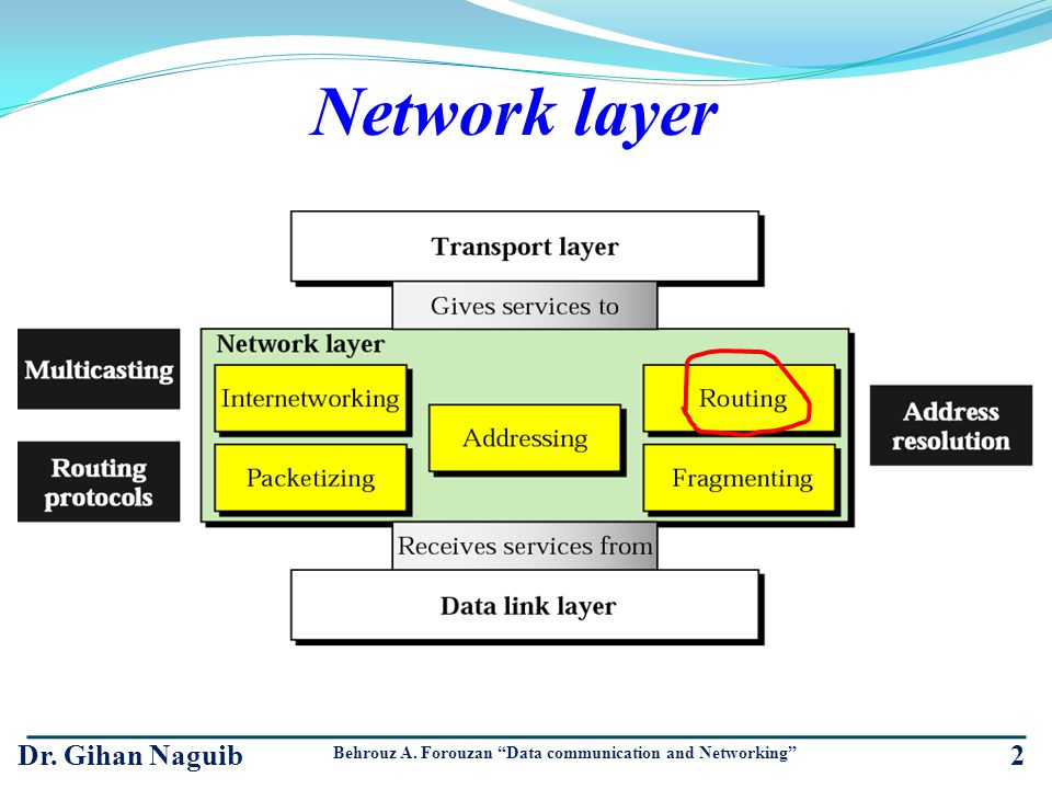 Network layer Dr. Gihan Naguib