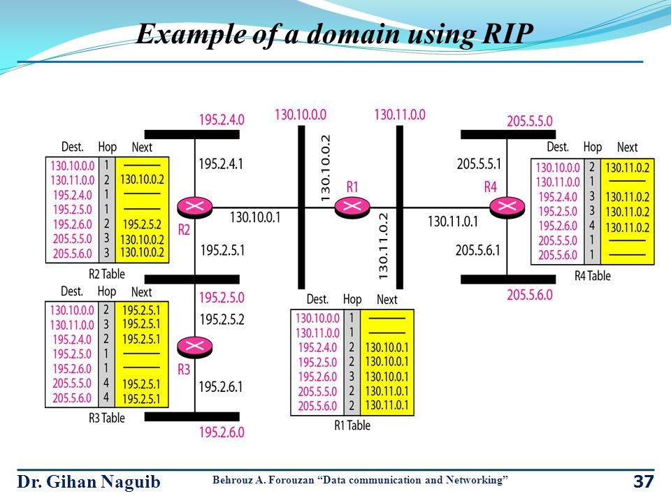 Example of a domain using RIP