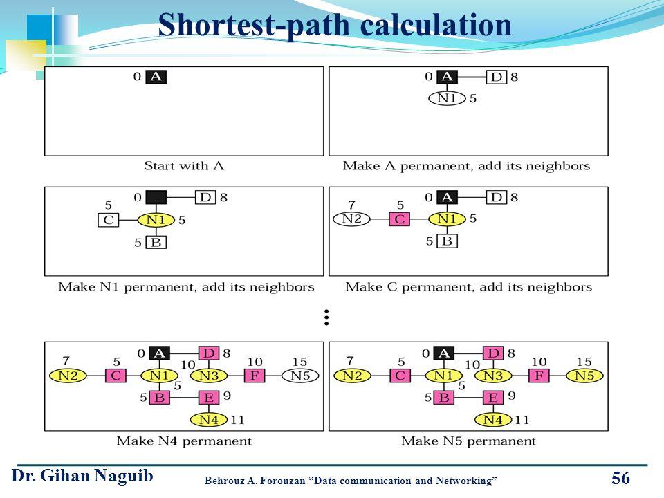 Shortest-path calculation