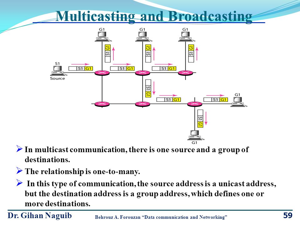 Multicasting and Broadcasting