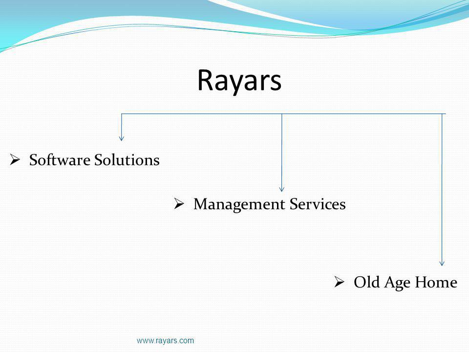 Rayars Software Solutions Management Services Old Age Home