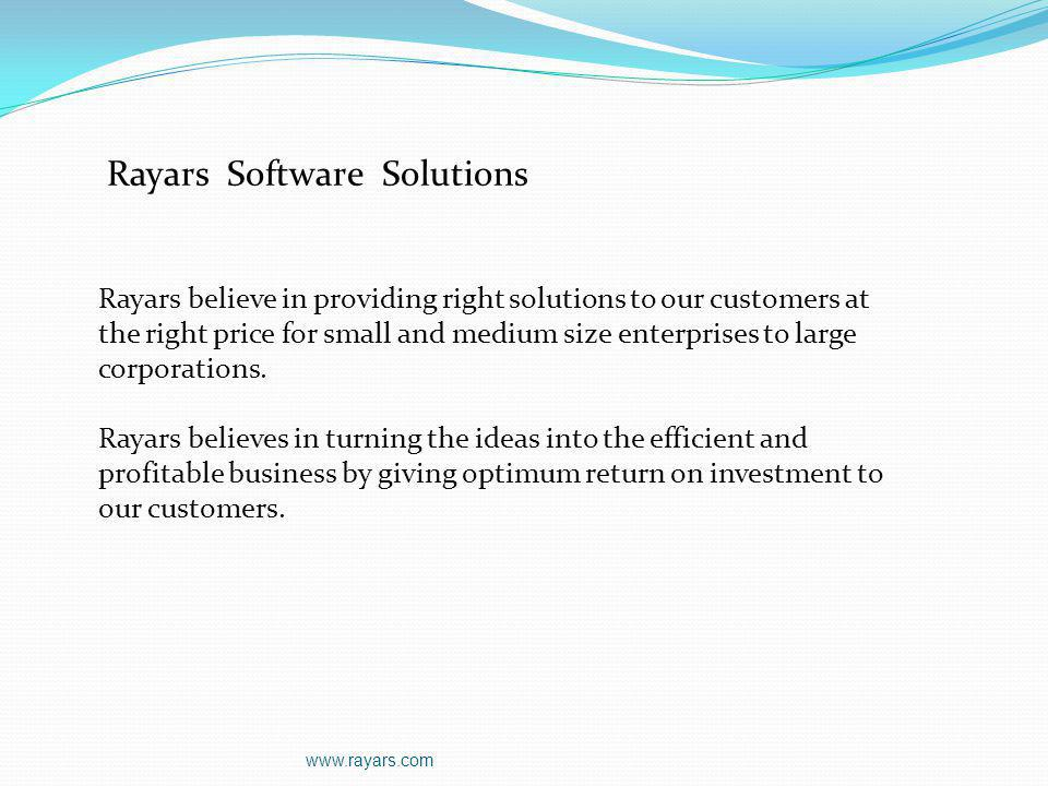 Rayars Software Solutions