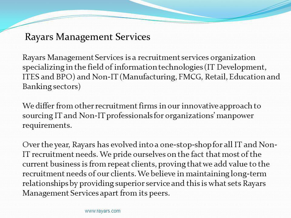 Rayars Management Services