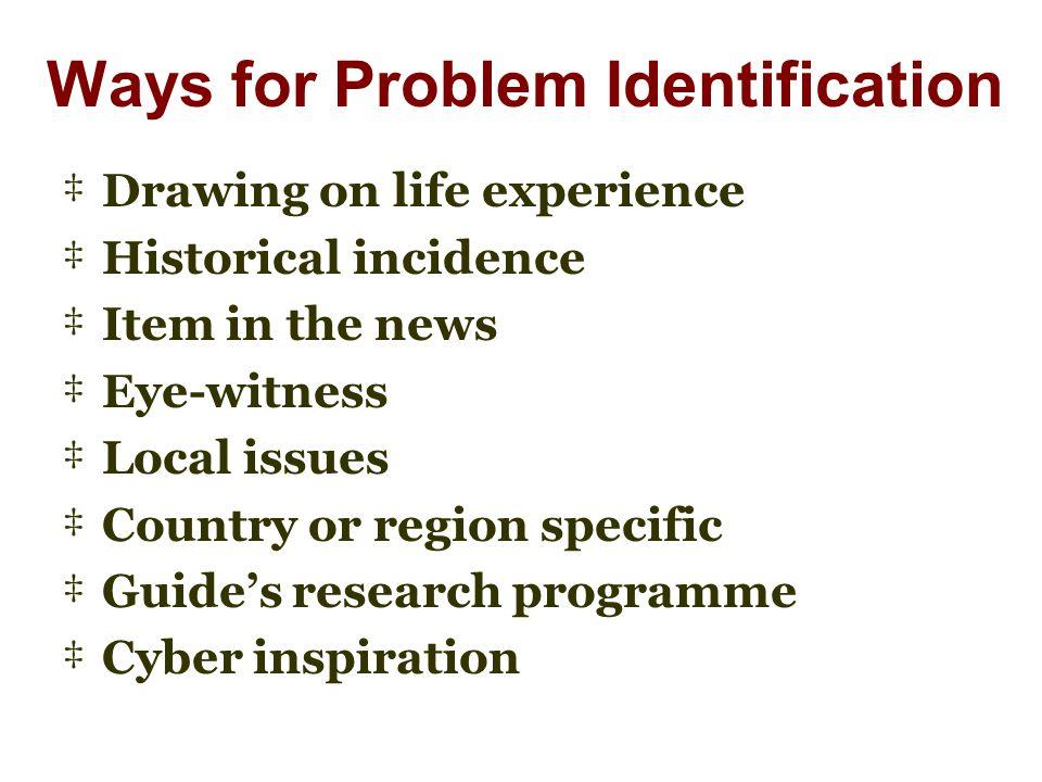 Ways for Problem Identification