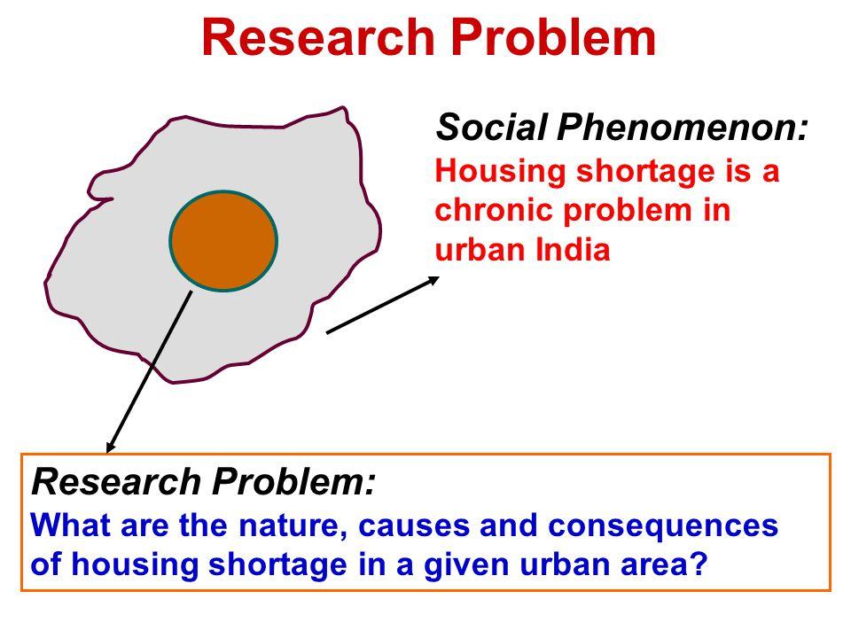 Research Problem Social Phenomenon: Research Problem: