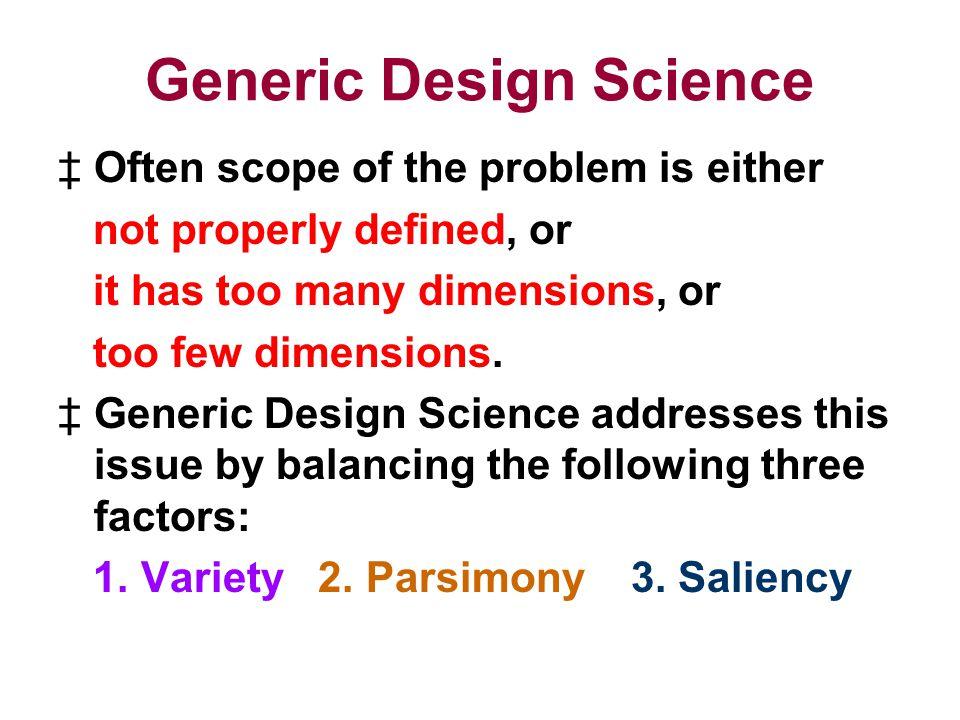 Generic Design Science