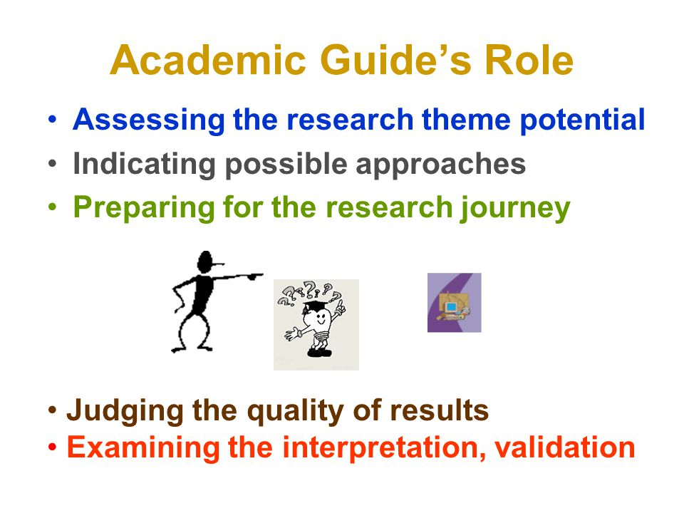 Academic Guide's Role Assessing the research theme potential