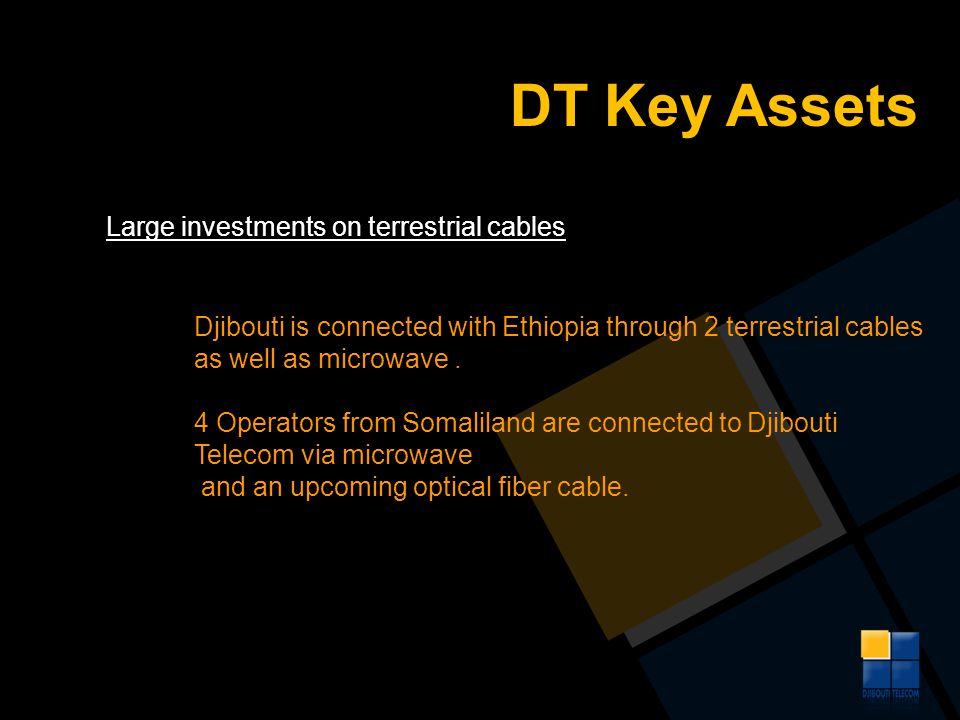 DT Key Assets Large investments on terrestrial cables