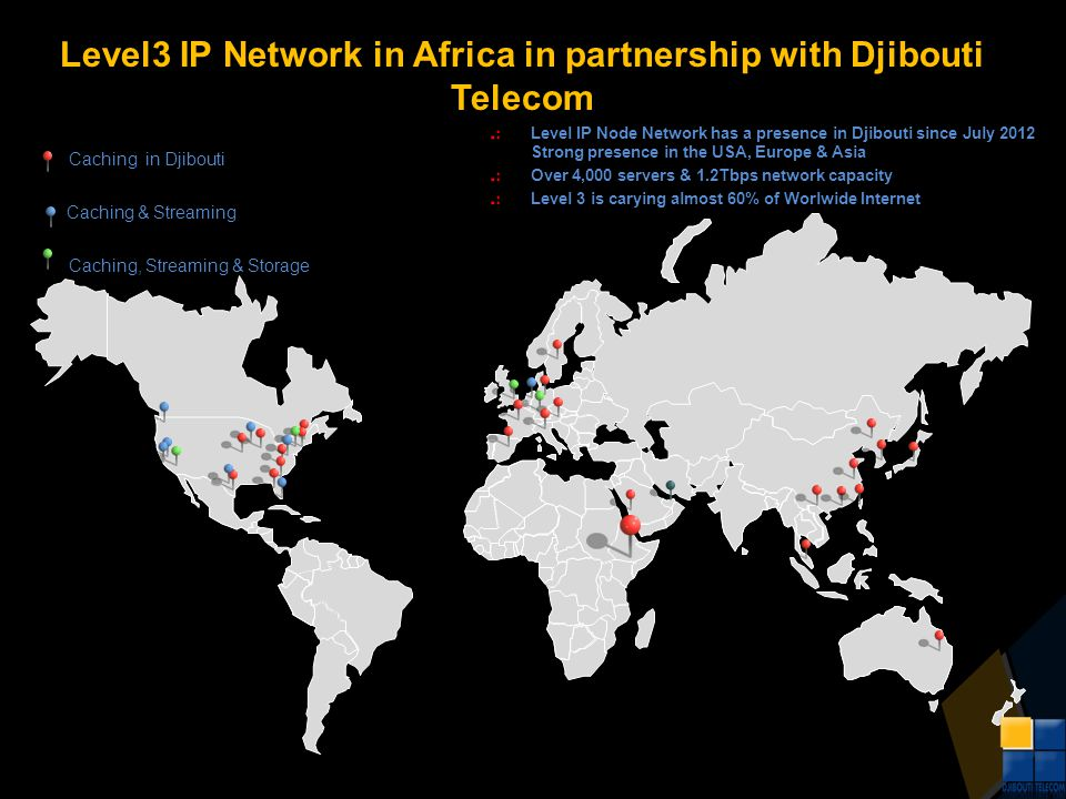 Level3 IP Network in Africa in partnership with Djibouti Telecom