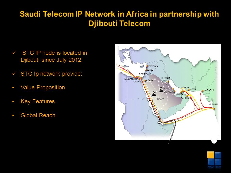 Saudi Telecom IP Network in Africa in partnership with Djibouti Telecom