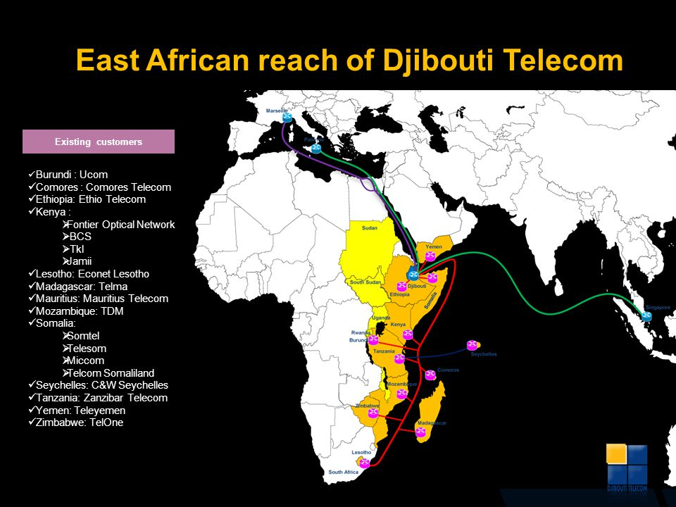 East African reach of Djibouti Telecom