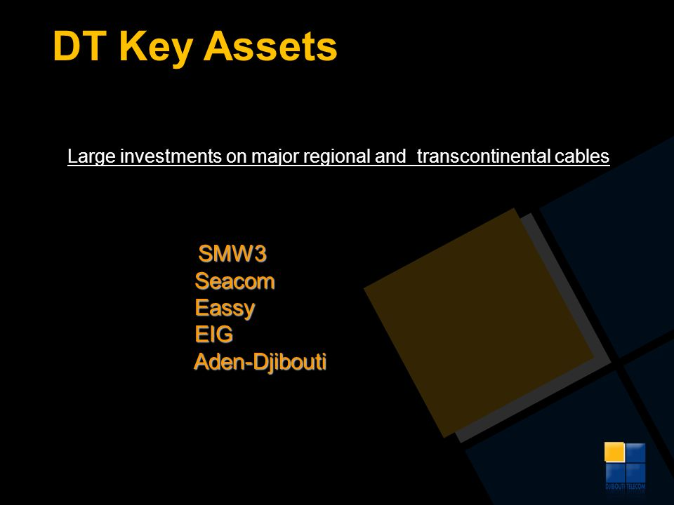 DT Key Assets Seacom Eassy EIG Aden-Djibouti