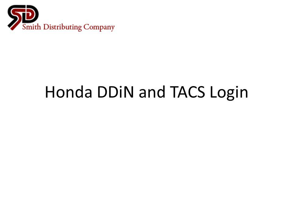 Honda DDiN and TACS Login