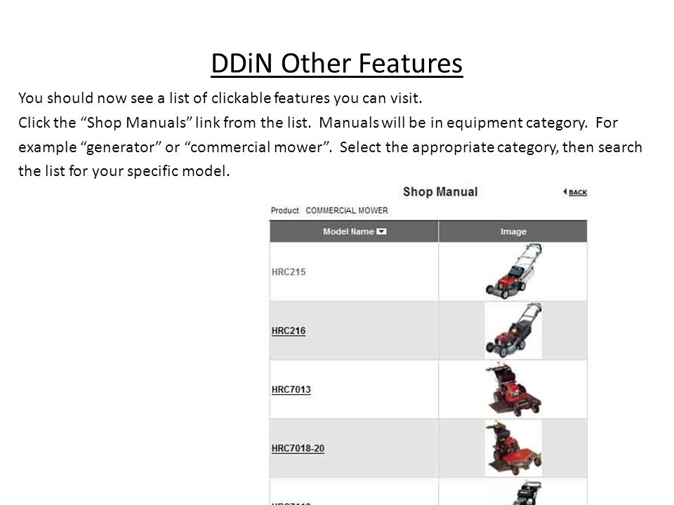 DDiN Other Features