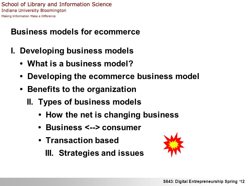 Business models for ecommerce