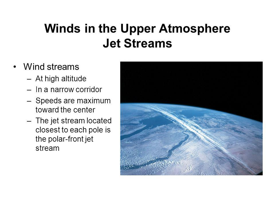 Winds in the Upper Atmosphere Jet Streams