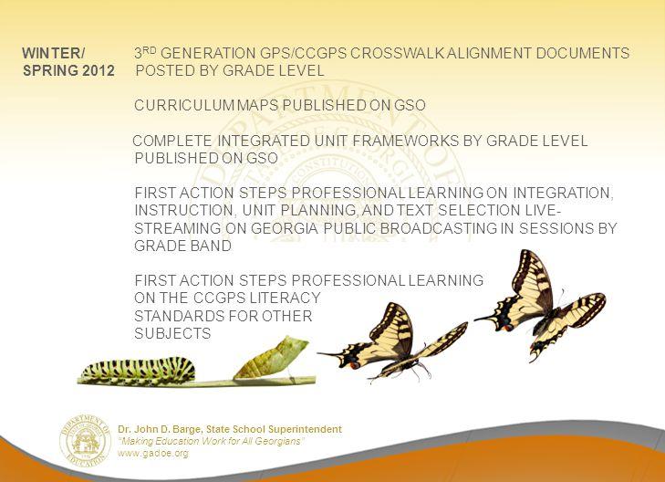 WINTER/ 3RD GENERATION GPS/CCGPS CROSSWALK ALIGNMENT DOCUMENTS
