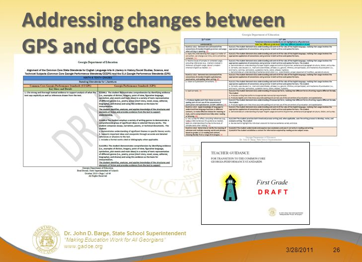 Addressing changes between GPS and CCGPS
