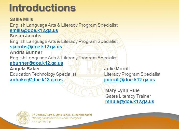 Introductions Sallie Mills