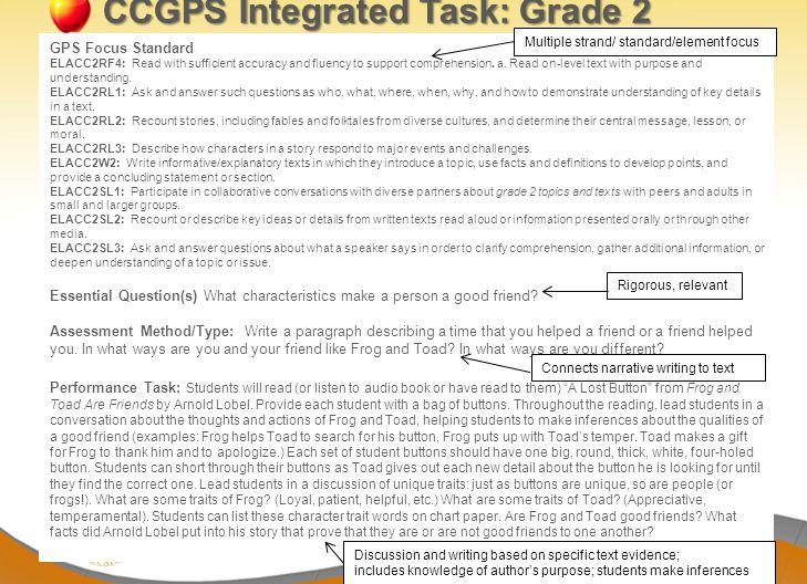 CCGPS Integrated Task: Grade 2