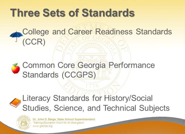 Three Sets of Standards