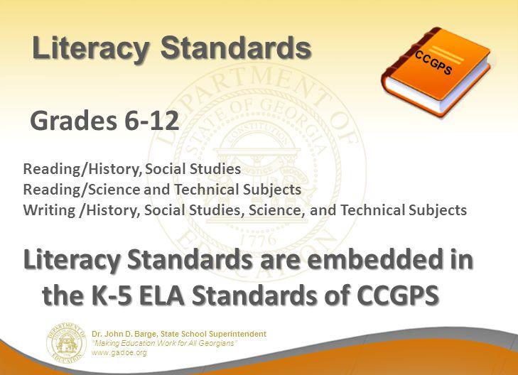 Literacy Standards Grades 6-12