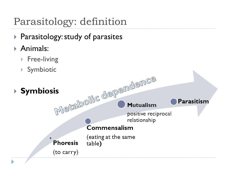 Parasitology: definition